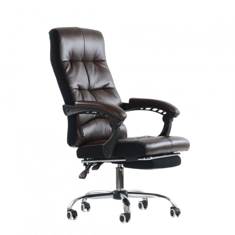 Кресло Barneo K-43 - PU коричневая кожа