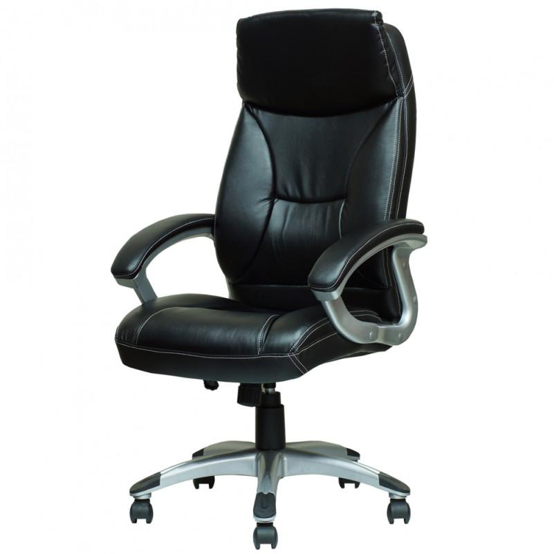 Кресло Barneo K-4 для руководителя черная кожа
