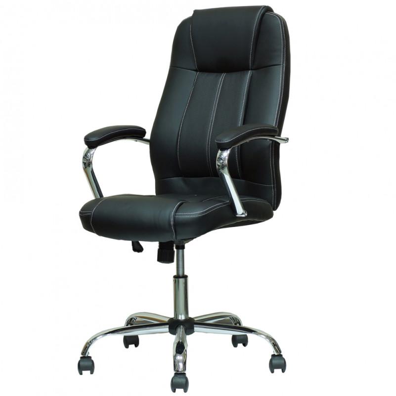 Кресло Barneo K-1 для руководителя черная кожа
