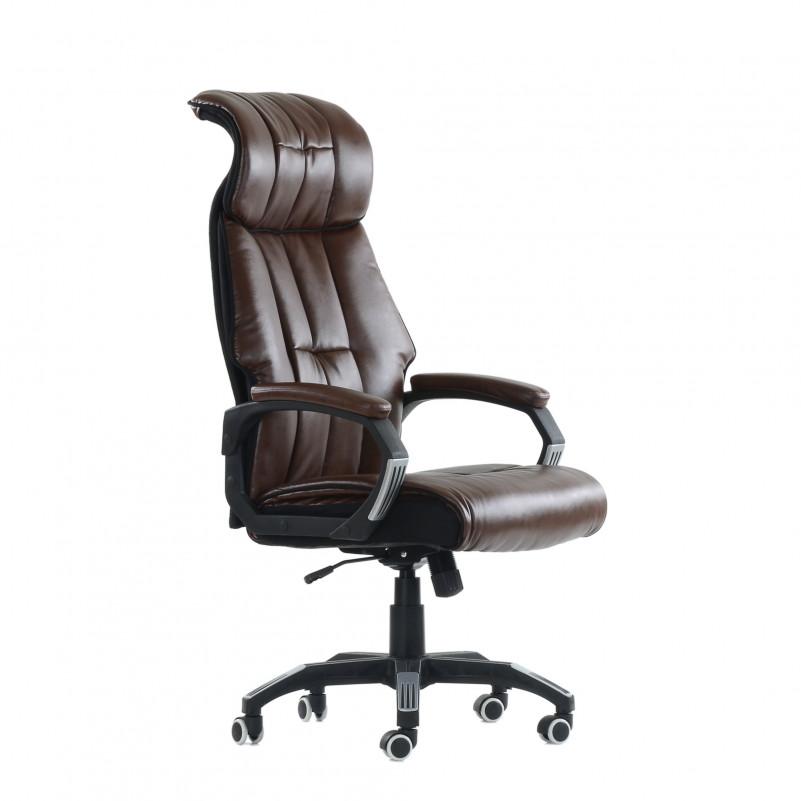 Кресло Barneo K-10 - PU коричневая кожа