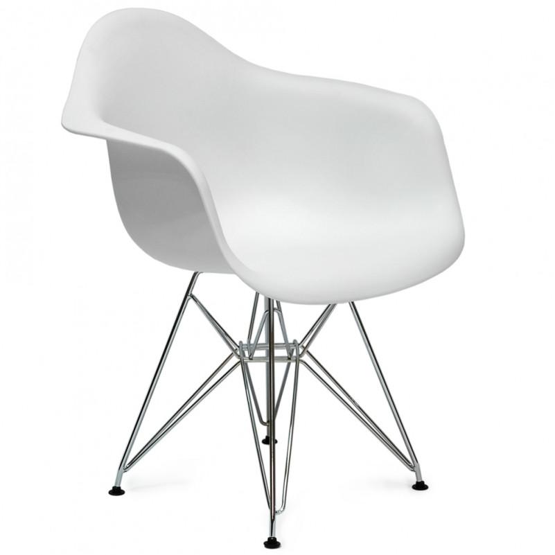 Кресло Barneo N-14-14 SteelMold белый метал. ножки