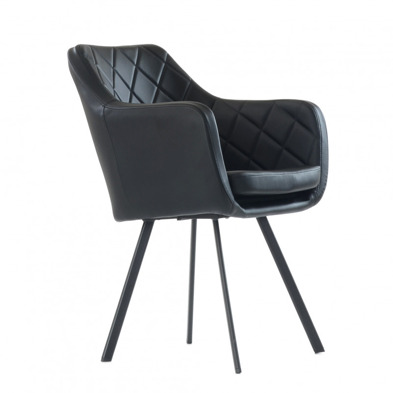 Кресло Barneo K-20 / каркас #1 - PU черная кожа