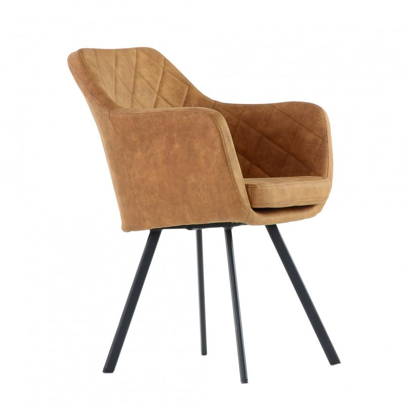 Кресло Barneo K-20 / каркас #1 - VPU светло-коричневый винтаж PK970-2