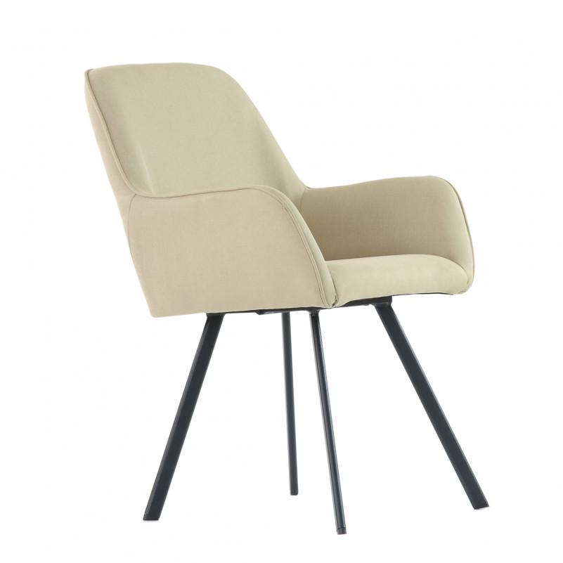 Кресло Barneo K-21 / каркас #1 - FB бежевая ткань