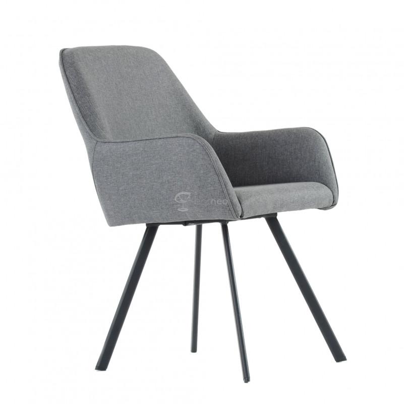 Кресло Barneo K-21 / каркас #1 - FB серая ткань