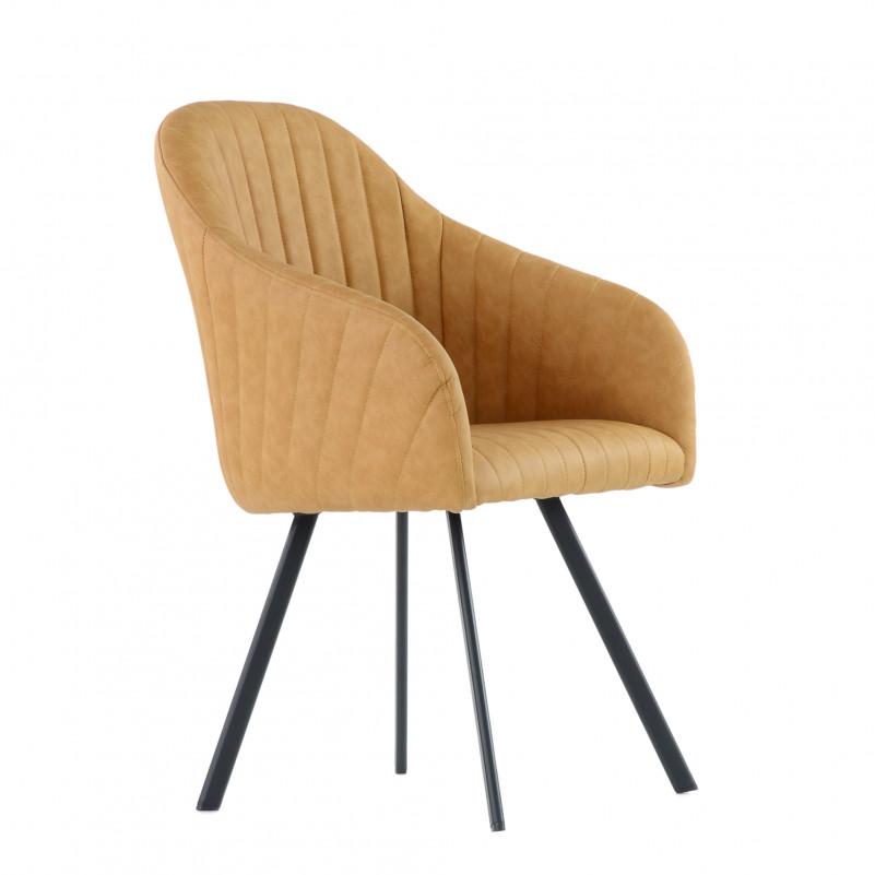 Кресло Barneo K-99 / каркас #1 - PU светл.коричн кожа