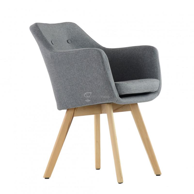 Кресло Barneo K-100 каркас дерево - FB серая ткань