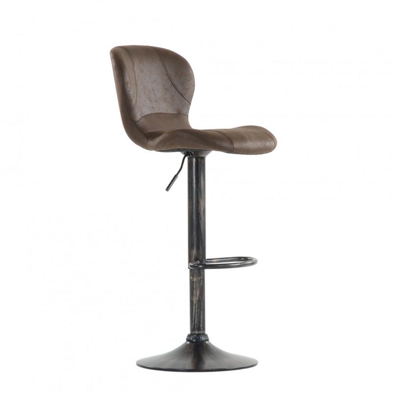 Барный стул Barneo N-86 Time / Chrome - VPU коричневый винтаж PK970-18