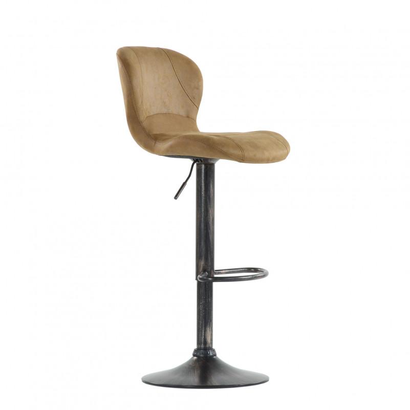 Барный стул Barneo N-86 Time / Chrome - VPU рыжий винтаж PK970-5