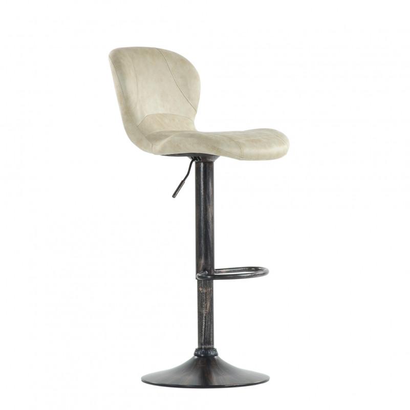 Барный стул Barneo N-86 Time / Chrome - VPU бежевый винтаж PK970-1