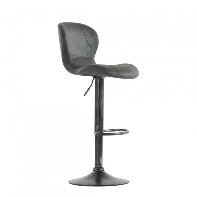 Барный стул Barneo N-86 Time / Chrome - VPU серый винтаж PK970-11
