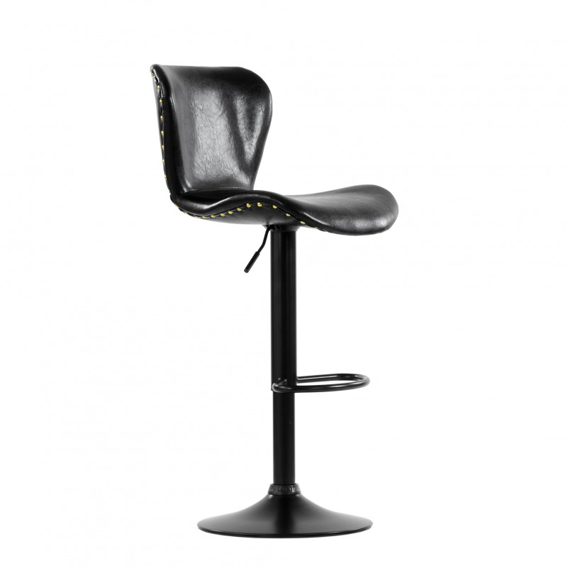 Барный стул Barneo N-87 Over / Black Vintage - SPU черный глянец