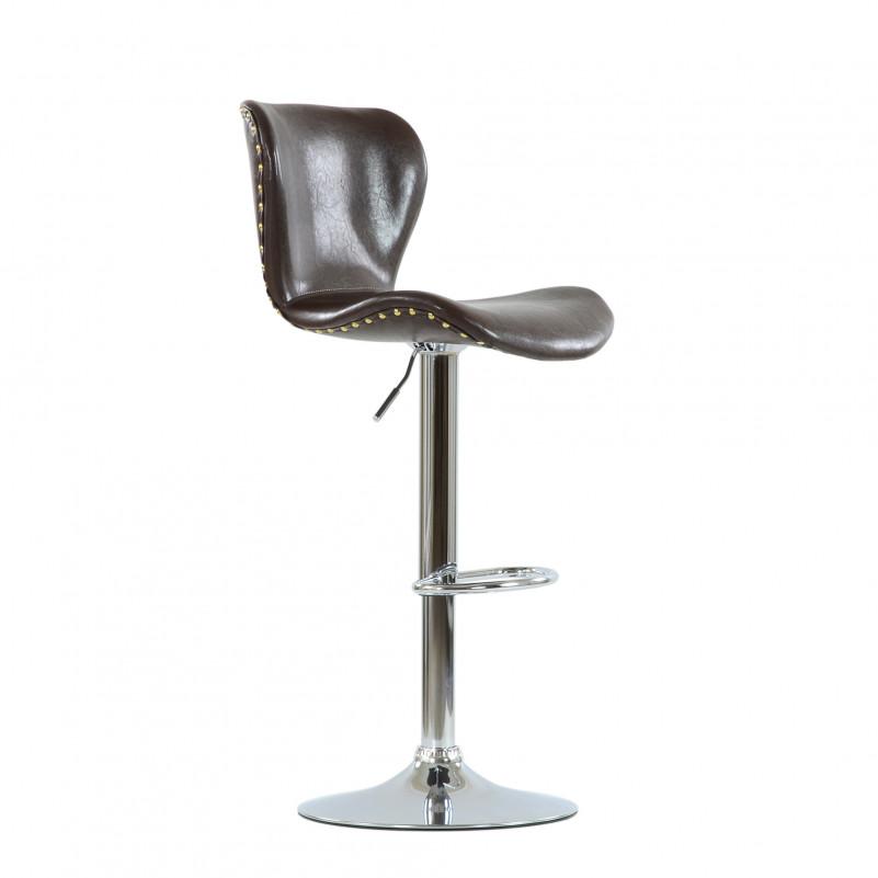 Барный стул Barneo N-87 Over / Black Vintage - SPU коричневый глянец