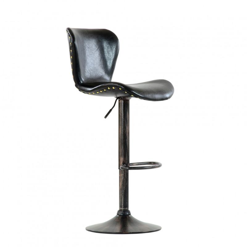 Барный стул Barneo N-87 Over / Chrome - SPU черный глянец