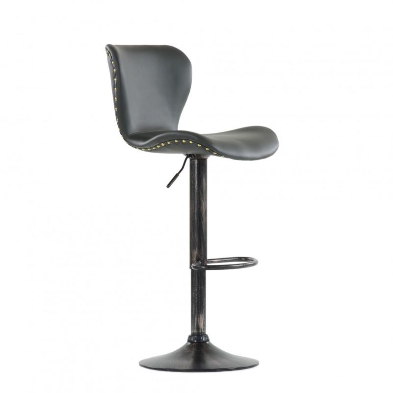 Барный стул Barneo N-87 Over / Chrome - PU серая кожа
