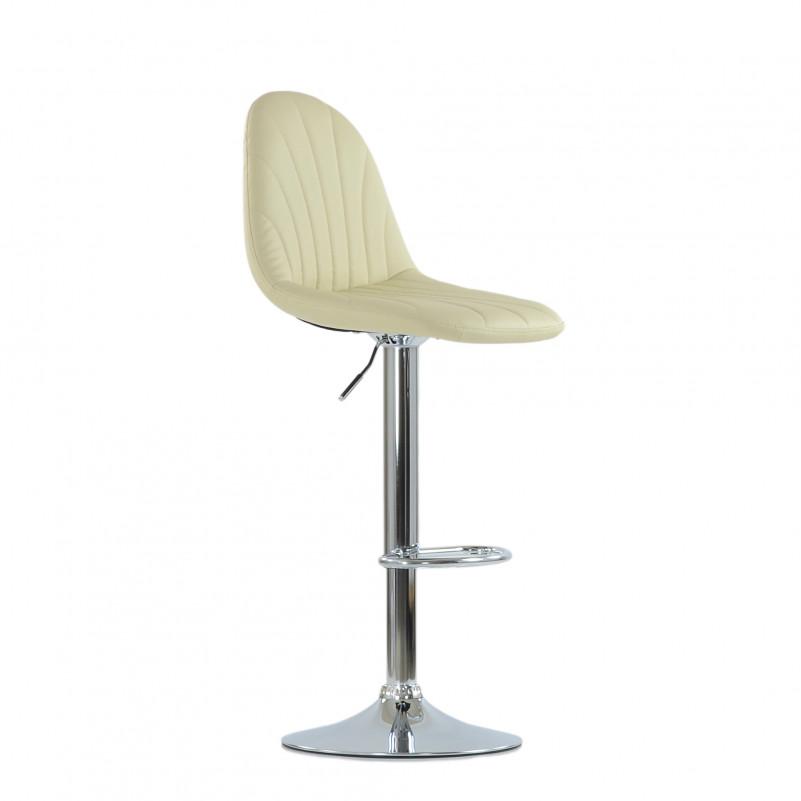 Барный стул Barneo N-95 Чертеж / Chrome - PU бежевая кожа