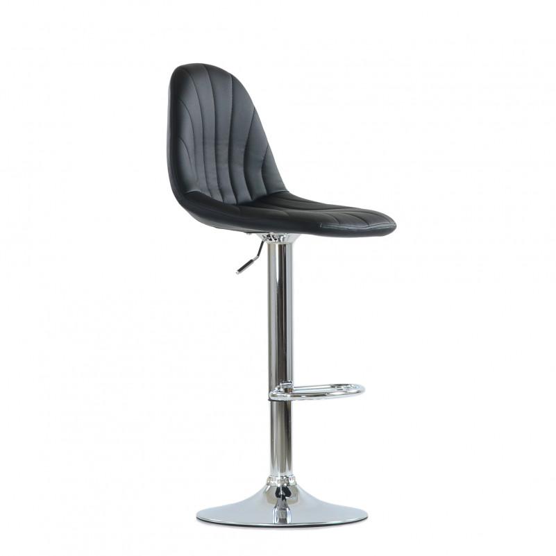 Барный стул Barneo N-95 Чертеж / Chrome - PU черная кожа