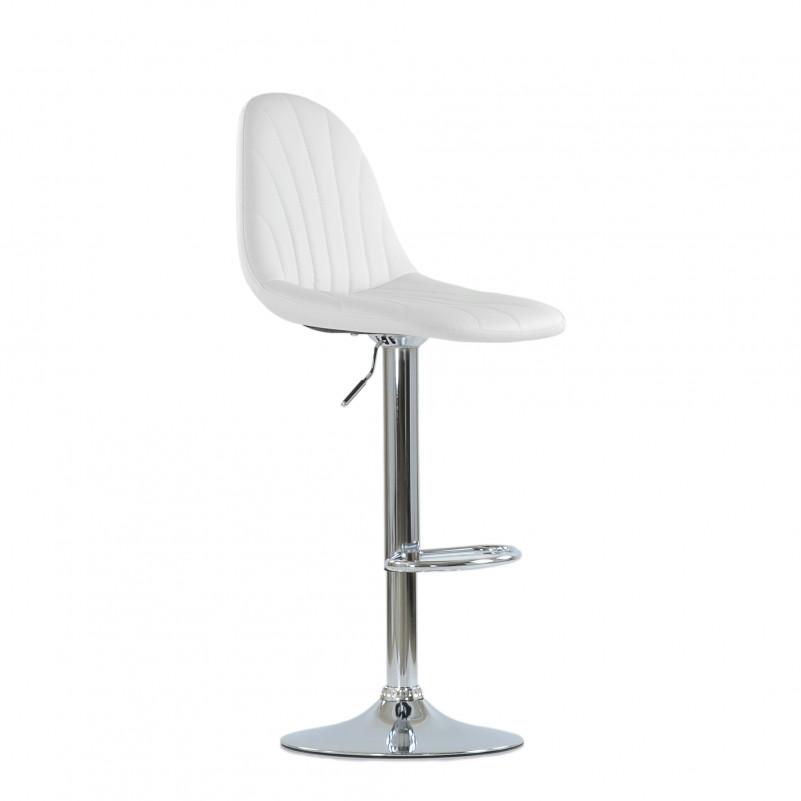 Барный стул Barneo N-95 Чертеж / Chrome - PU белая