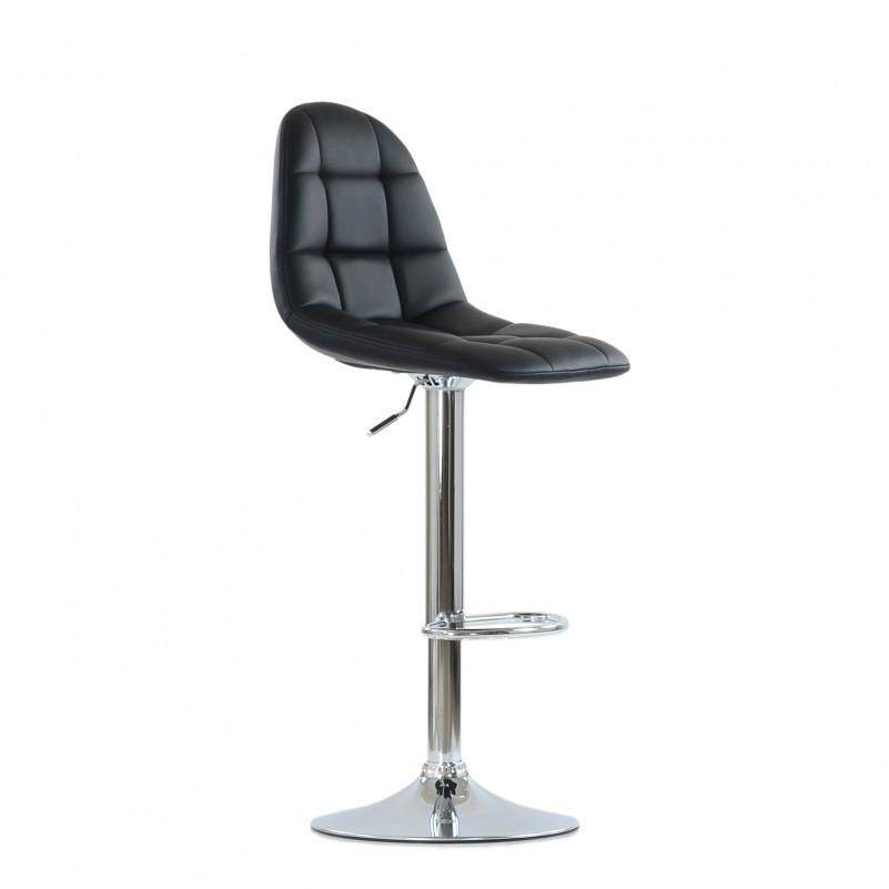 Барный стул Barneo N-96 Eames / Chrome - PU черная кожа