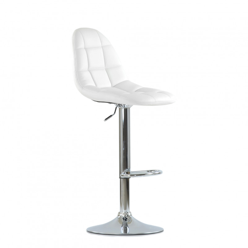 Барный стул Barneo N-96 Eames / Chrome - PU белая