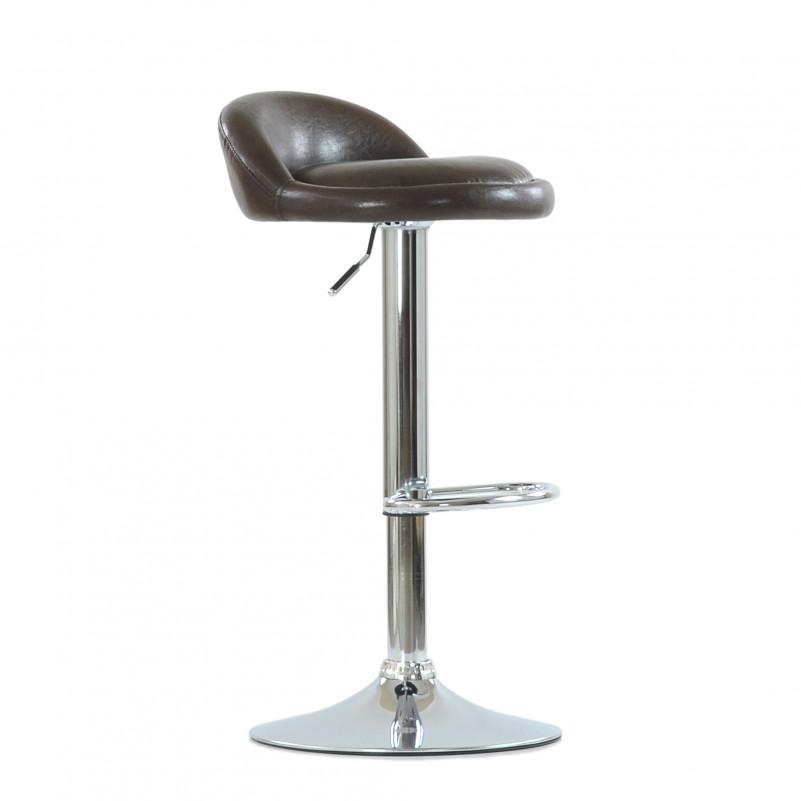 Барный стул Barneo N-97 Минск - каркас барного стула хром в сборе, SPU коричневый глянец