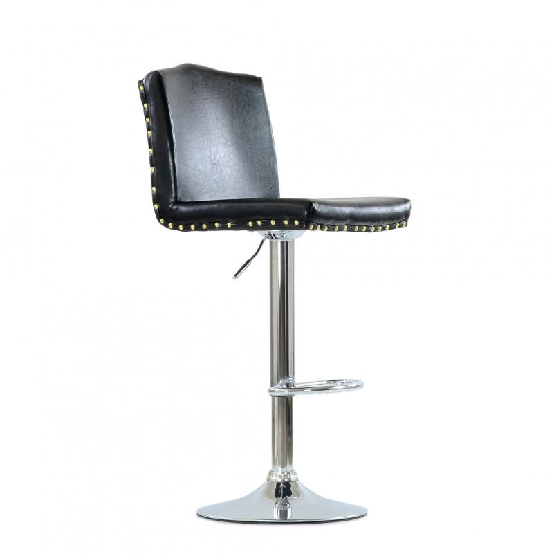 Барный стул Barneo N-98 Москва - каркас барного стула хром в сборе, SPU черный глянец