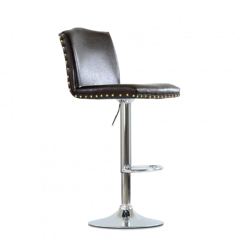 Барный стул Barneo N-98 Москва - каркас барного стула хром в сборе, SPU коричневый глянец