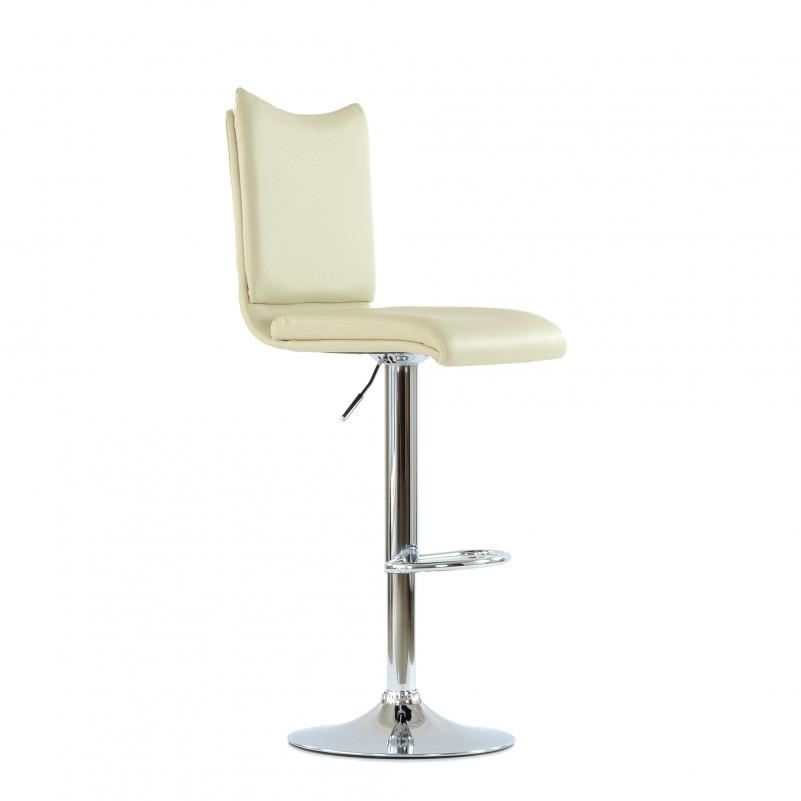 Барный стул Barneo N-99 / Chrome - PU бежевая