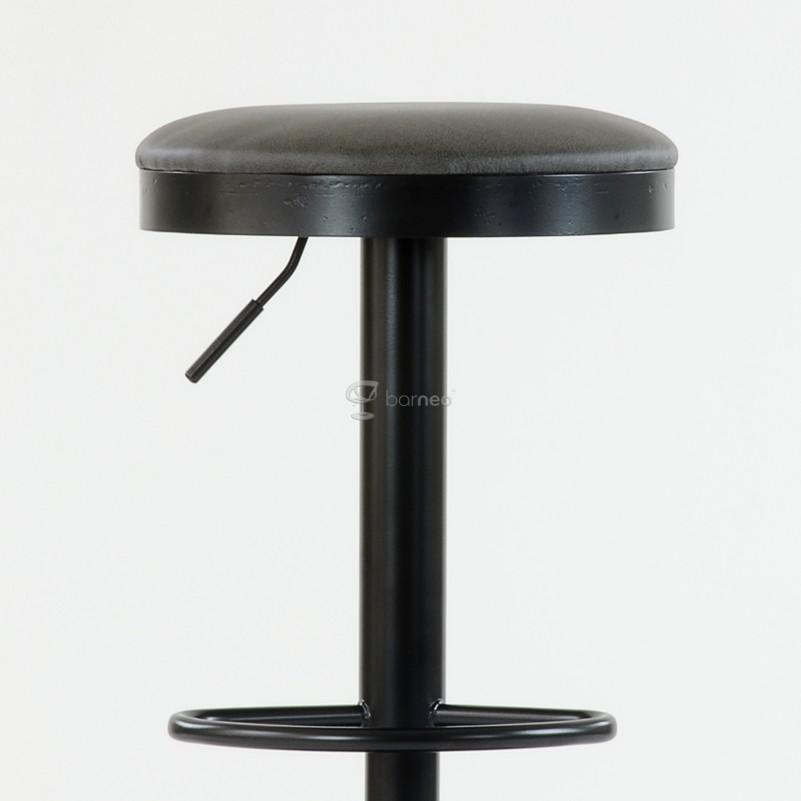Барный стул Barneo N-129 Green / Black Vintage - FPU зеленая кожа 510-43C