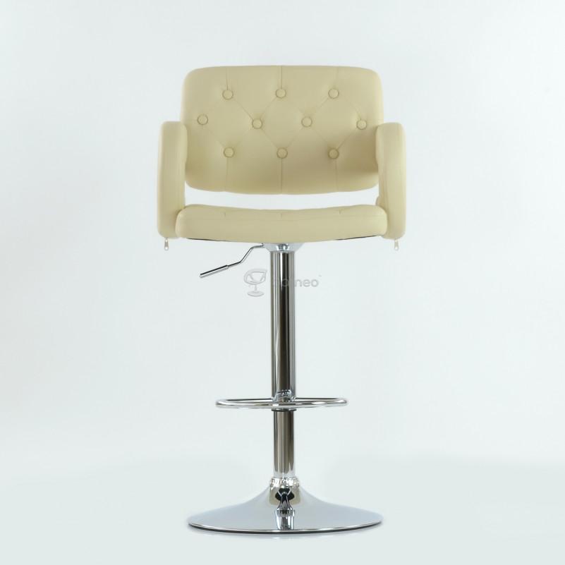Барный стул Barneo N-135 Gregor кремовая кожа