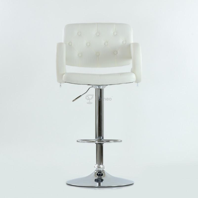 Барный стул Barneo N-135 Gregor белая кожа