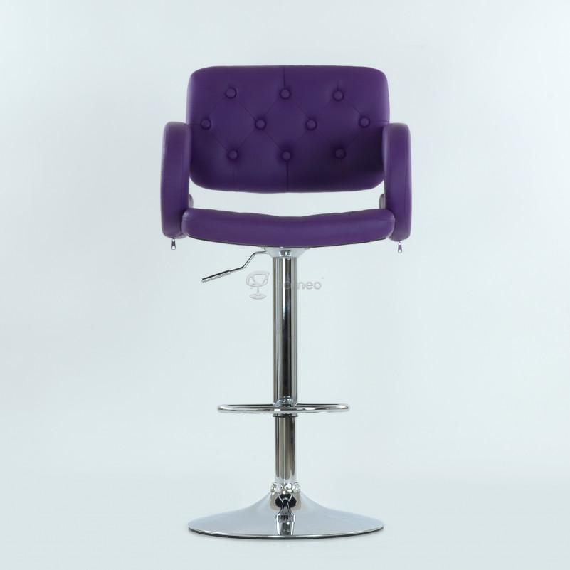 Барный стул Barneo N-135 Gregor фиолетовая кожа