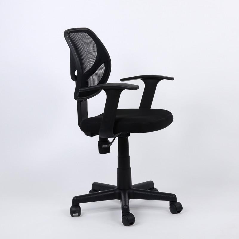 Кресло Barneo K-144 для персонала черная ткань черная сетка (Ch-797AXSN)