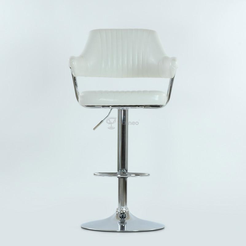 Барный стул Barneo N-152 Cherokee белая кожа
