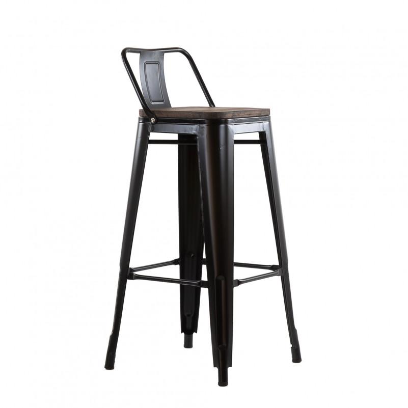 Барный стул Barneo N-238 Tolix style Wood любой цвет RAL