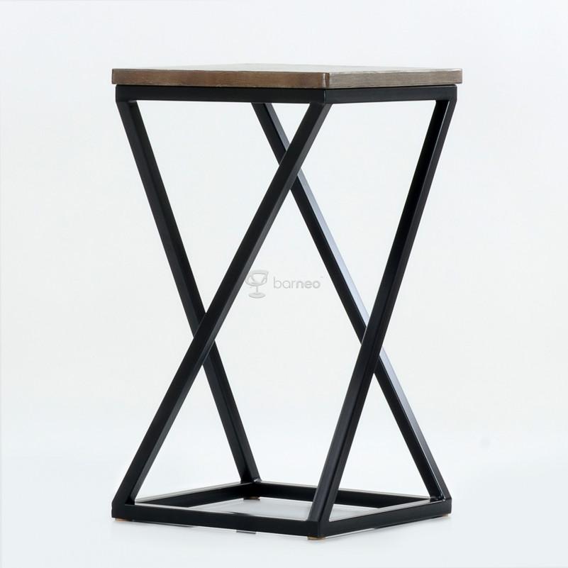 Барный стул Barneo N-304 Vint, каркас по RAL/ шпон -массив