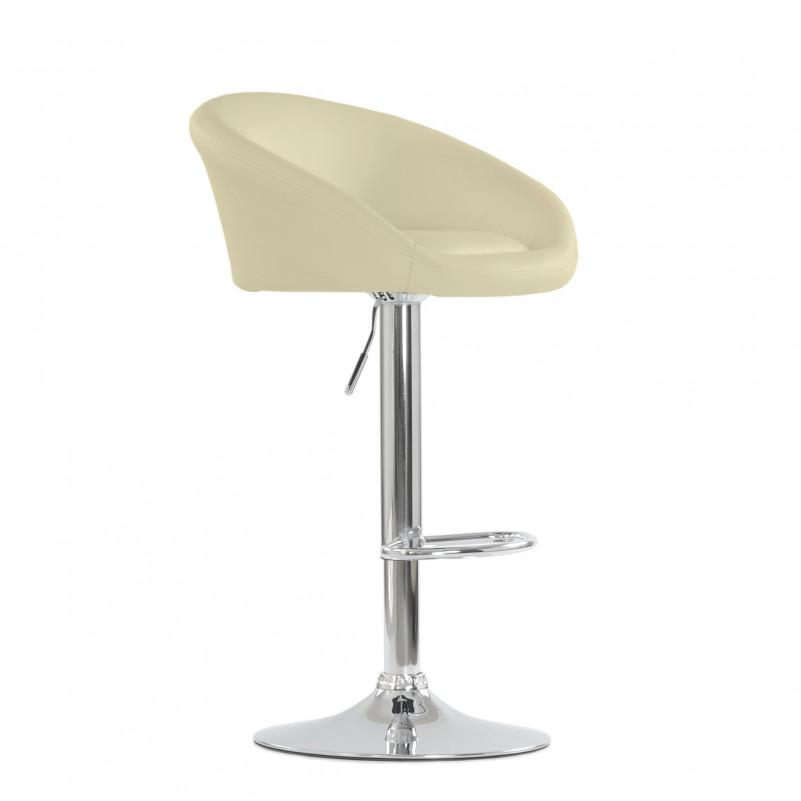 Барный стул Barneo N-311 Роки кремовая кожа