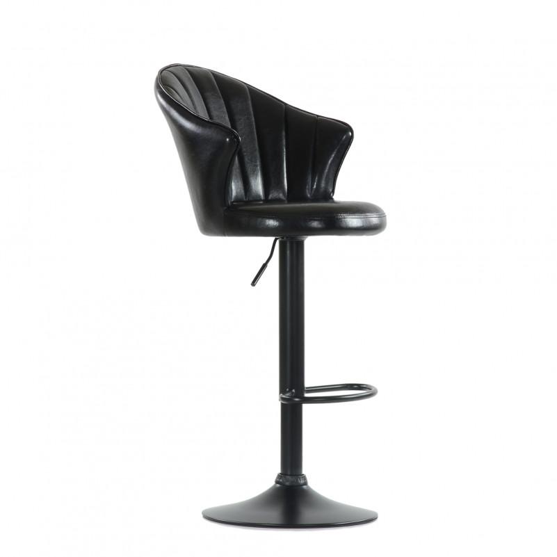 Барный стул Barneo N-31 Лидер / Black - SPU черный глянец
