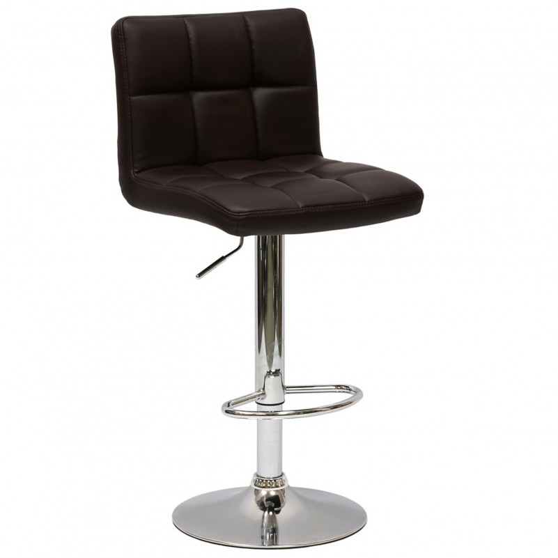 Барный стул Barneo N-47 Twofold - PU черная кожа