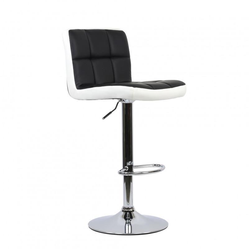 Барный стул Barneo N-47 Twofold / Black - PU бело-черная кожа