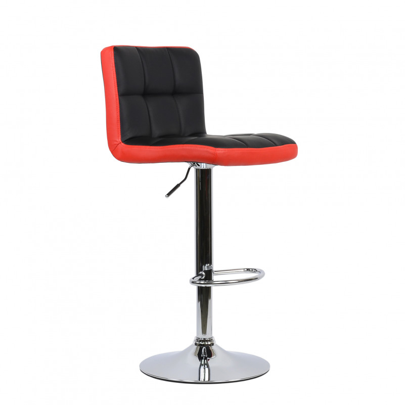 Барный стул Barneo N-47 Twofold / Black Vintage - PU красно-черная кожа