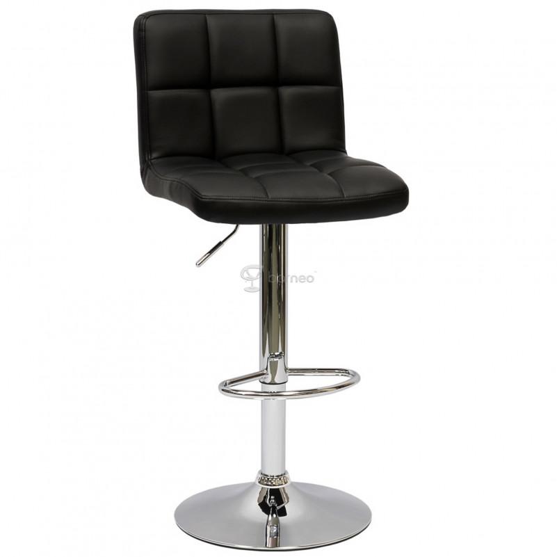 Барный стул Barneo N-47 Twofold / Black - PU черная кожа