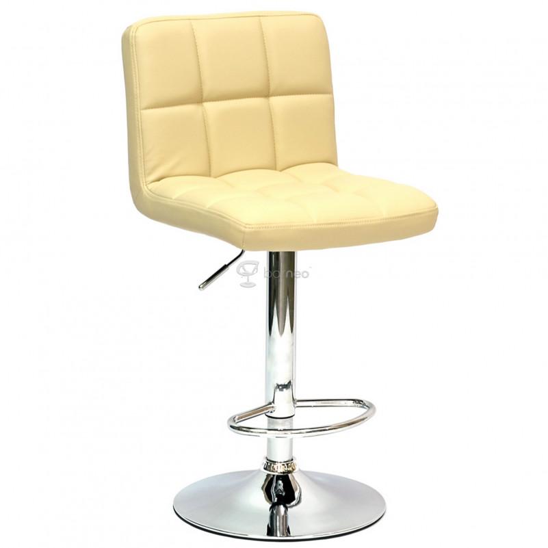 Барный стул Barneo N-47 Twofold - PU бежевая кожа