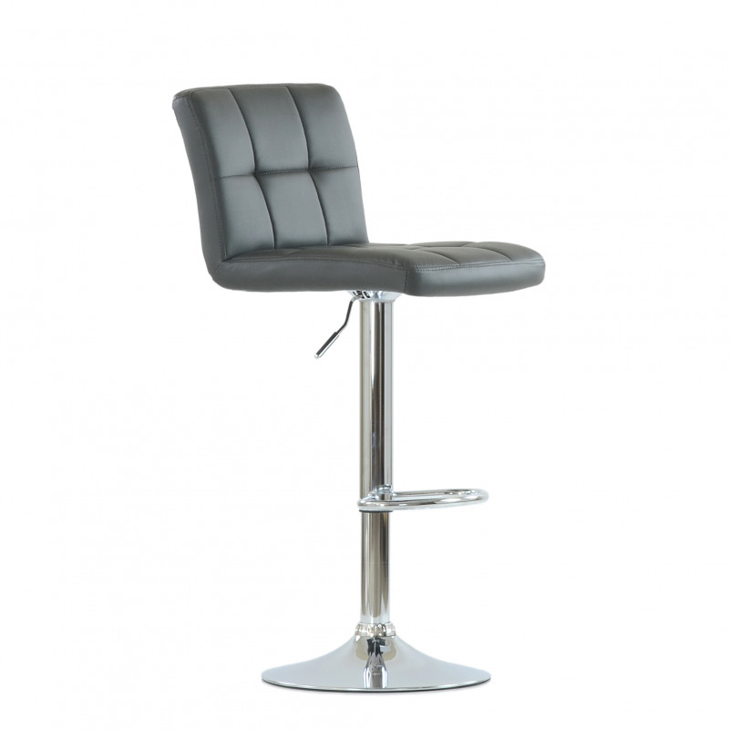 Барный стул Barneo N-47 Twofold / Black Vintage - PU серая кожа