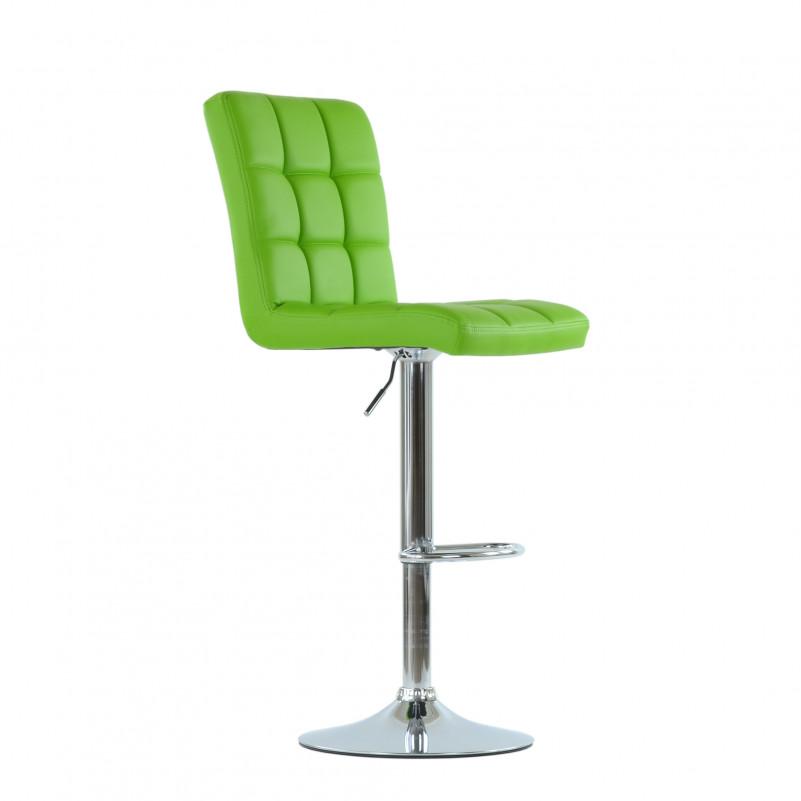 Барный стул Barneo N-48 Kruger зеленая кожа