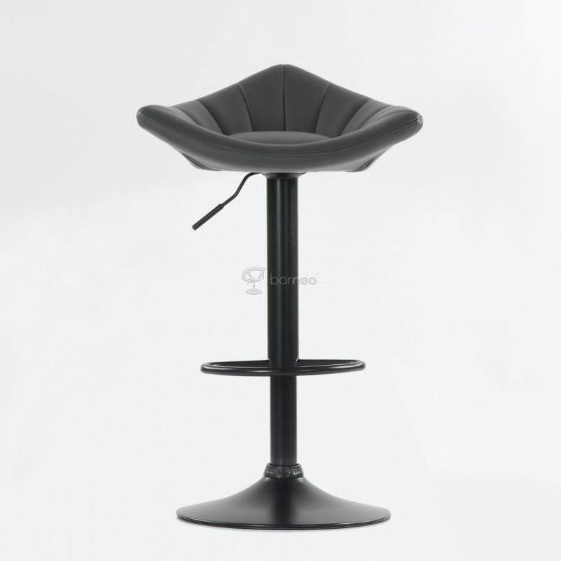 Барный стул Barneo N-44 Дана / Black - PU серая кожа