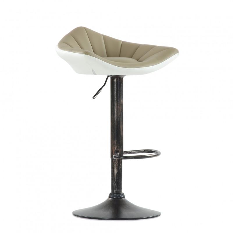 Барный стул Barneo N-44 Дана / Black - PU светл.коричн-белая кожа