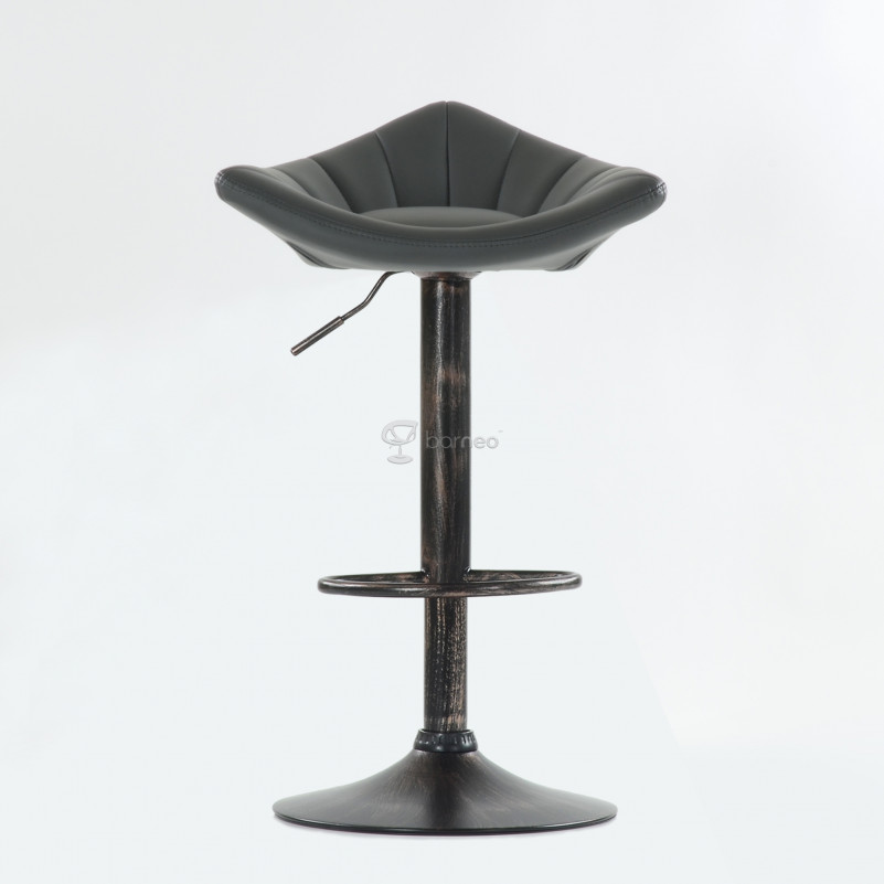 Барный стул Barneo N-44 Дана / Black Vintage - PU серая кожа