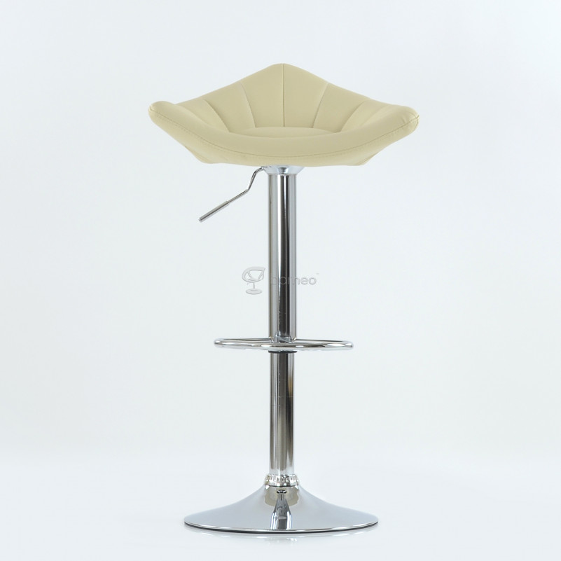 Барный стул Barneo N-44 Дана / Chrome  - PU бежевая кожа