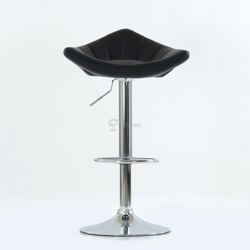 Барный стул Barneo N-44 Дана / Chrome  - PU черная кожа
